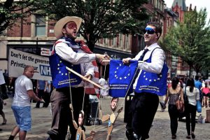 TTIP protest in Manchester